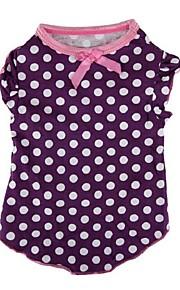 Cães Camiseta Púrpura Inverno / Verão / Primavera/Outono Clássico / Bolinhas Casamento / Natal / S. Valentim / Da Moda, Dog Clothes / Dog