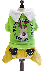 Dog Coat Green / Yellow Winter / Spring/Fall Animal / Sport Sports / Fashion / Christmas, Dog Clothes / Lovoyager