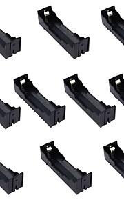 10pcs одной коробке 18650 булавка поделки литиевая батарея сиденья установлена 1 батарея 18650 пластины