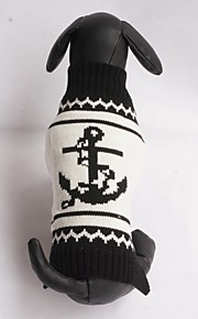 New Autumn and Winter Christmas Halloween Seamen Sailor Iron Anchor Dog Sweater Dog Clothes for Pet Dogs