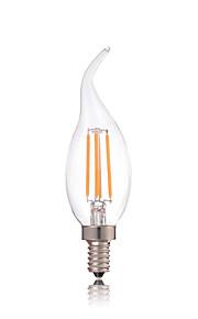 4W E14 Lâmpadas de Filamento de LED CA35 4 COB 360LM lm Branco Quente / Branco Frio Decorativa AC 220-240 V 1 pç