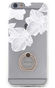 Capa traseira com suporte Flor PC Duro Case Capa Para Apple iPhone 6s Plus/6 Plus / iPhone 6s/6