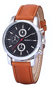 Unisex Simple Dress Design PU Leather Strap Quartz Wrist Watch