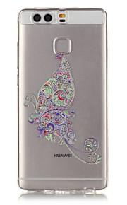 Funda Trasera Transparentes / Other Flor TPU Suave Cubierta del caso para HTC Huawei P9