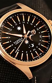 Heren Modieus horloge / Polshorloge Kwarts / PU Band Cool / Vrijetijdsschoenen Zwart / Bruin Merk