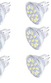 3 GU4(MR11) LED-spotpærer MR11 12 SMD 5733 250 lm Varm hvit / Kjølig hvit Dekorativ 9-30 V 1 stk.