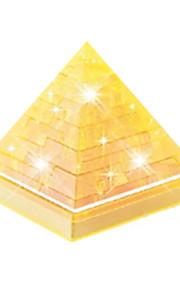 Quebra-cabeças Quebra-Cabeças 3D / Quebra-Cabeças de Cristal Blocos de construção DIY Brinquedos edifícios famosos ABS DouradaModelo e