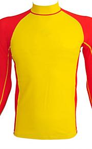 Sports Men's Swimwear Compression / Comfortable Swimwear Tops Adjustable Adjustable Yellow Yellow XXL
