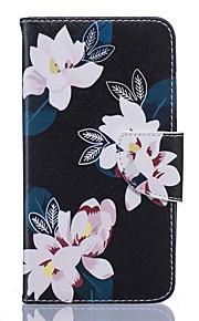 Cuerpo Completo billetera / Soporte de Tarjeta / A Prueba de Golpes / A Prueba de Polvo / con el soporte Flor Cuero Sintético Suave