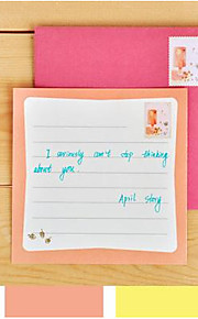 Original Design Korean Stationery April Story Handwritten Greeting Card