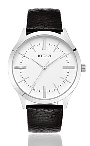 kezzi simple style black color band quarrz couple watch 1338D