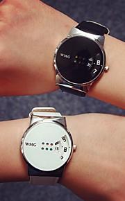 Masculino Mulheres Unissex Relógio de Moda Relógio de Pulso Quartzo / PU Banda Casual Preta Branco Branco Preto