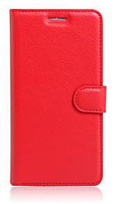 Cuerpo Completo billetera / Soporte de Tarjeta / con el soporte / Dar la vuelta Color Sólido Cuero Sintético SuaveWallet type bracket /