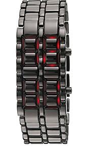 Masculino Relógio de Moda / Relógio de Pulso Digital LED / Calendário Silicone Banda Bracelete Preta / Prata marca