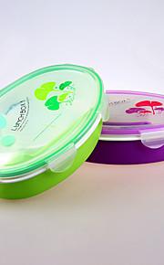 recipiente de plástico marca yeeyoo por el alimento con los divisores