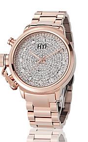 Mulheres Relógio de Moda Quartz Impermeável Aço Inoxidável Banda Brilhante Branco / Dourada / Ouro Rose marca