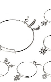 Armbånd Charm-armbånd / Bangles Legering Circle Shape / Cross Shape / Animal Shape Crossover / Kors / Sidelæns / Multi-måder Wear