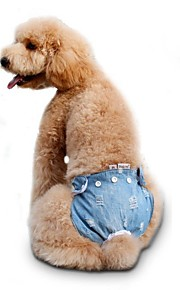 Sweety Fashion Jean Physiological Pants with Bownots for Dogs Pets