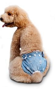 Gatos / Perros Disfraces / Pantalones Rojo / Azul / Rosado Ropa para Perro Invierno / Verano / Primavera/Otoño LazoBoda / Cumpleaños /