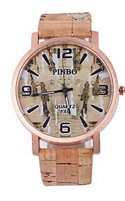 Masculino / Mulheres / Unissex Relógio de Pulso Quartz / PU Banda Casual Cores Múltiplas marca