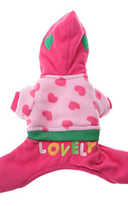 Dog Hoodie Pink Dog Clothes Winter / Spring/Fall Letter & Number Casual/Daily