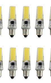 9 E11 LED-spotpærer T 1 COB 350 lm Varm hvit / Kjølig hvit Dekorativ AC 220-240 V 10 stk.