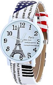 Mulheres Relógio de Moda / Relógio de Pulso Quartz / Couro Banda Legal / Casual Branco / Azul / Marrom / Rose marca