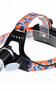 U`King® ヘッドランプ / ヘッドランプ・ストラップ LED 6000LM ルーメン 4.0 モード Cree XM-L T6 18650 充電式 / 小型 キャンプ/ハイキング/ケイビング / サイクリング / 狩猟 / 釣り / 多機能 / 登山 / 屋外