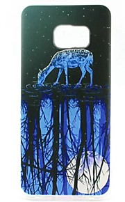 EFORCASE Painted Twilight Sheep TPU Phone Case for Samsung Galaxy S7 edge S7 S6