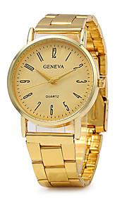 Unissex Relógio de Moda Quartz / Aço Inoxidável Banda Vintage / Casual Dourada marca