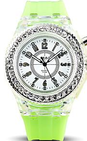 Masculino Relógio de Pulso Quartz LED Silicone Banda Legal / Casual Preta / Branco / Azul / Vermelho / Laranja / Verde / Amarelo marca