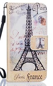 Corpo Completo carteira / Entrada de Cartão / com suporte Torre Eiffel Couro Ecológico Duro Case Capa Para HuaweiHuawei P9 / Huawei P9
