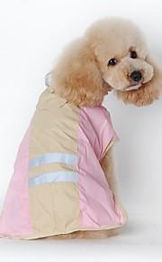 Gatos / Cães Fantasias / Camiseta / Capa de Chuva Azul / Rosa Roupas para Cães Inverno / Verão / Primavera/OutonoCor Única / Desenhos