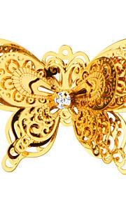 nye mode gaver dobbelt sommerfugl broche 18 k ægte forgyldt høj kvalitet til veninde gave x30014