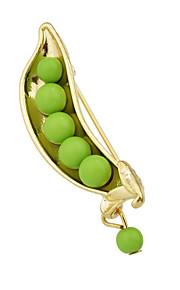 grønne perler lang brocher smykker