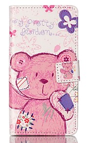 Full Body Card Holder/ Shockproof / Flip Tatty Teddy PU Leather Hard Case Cover For Sony Sony Xperia XP / Sony Xperia M4