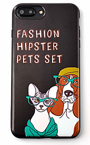 Skal Mönster Dog TPU Mjuk Fallet täcker för Apple iPhone 7 Plus / iPhone 7 / iPhone 6s Plus/6 Plus / iPhone 6s/6