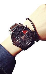 Masculino Relógio de Pulso Quartz / Couro Banda Legal / Casual Marrom marca