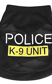 Koirat T-paita Sininen / Maalattu / Pinkki Koiran vaatteet Kesä Poliisi/Armeija Rento/arki /