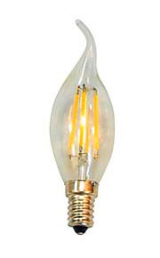 4 E14 LED-lysestakepærer C35 4 SMD 5050 100 lm Varm hvit / Kjølig hvit Dekorativ AC 220-240 V 1 stk.