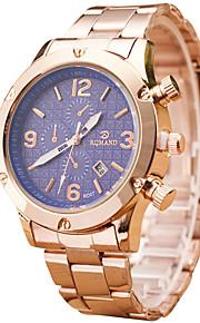 Masculino Relógio de Pulso Quartz / Aço Inoxidável Banda Legal / Casual Dourada marca