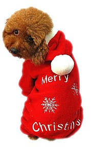 Gatos / Perros Abrigos / Saco y Capucha / Mono / Pantalones Rojo Ropa para Perro Invierno / Primavera/Otoño CopoVacaciones / Moda /