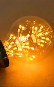 2 E26/E27 LED-globepærer G80 49 DIP-LED 800 lm Gul Dekorativ AC 220-240 V 1 stk.