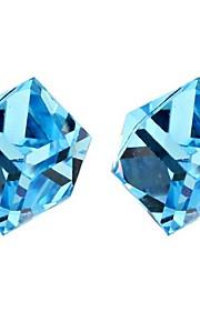 Øreringe Geometric Shape Smykker 1 par Mode Daglig Platin Belagt Dame Sølv