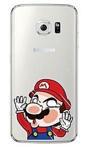 Per retro Ultrasottile / Traslucido Cartoni animati TPU Morbido Copertura di caso per Samsung GalaxyS7 edge / S7 / S6 edge plus / S6 edge