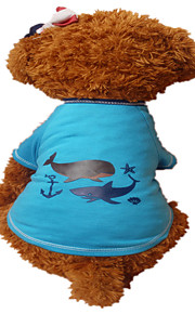 Holdhoney Dog Shirt / T-Shirt Green / Blue Dog Clothes Summer Animal Fashion #LT15050281