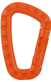 FURA Outdoor Nylon Tacitcal Carabiner Keychain - Orange / Black / Khaki / Army Green