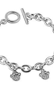 Bracelet Chain Bracelet Charm Bracelet Silver-Stone Alloy Rhinestone Dog Claws Fashion Jewelry Gift 1pc