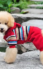 Koirat Takit / Haalarit Punainen / Harmaa Koiran vaatteet Talvi / 봄/Syksy 스트라이프 Muoti / Pidä Lämmin / Halloween / Joulu /