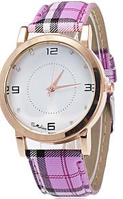 Mulheres Relógio de Moda / Relógio de Pulso Quartz / Couro Banda Legal / Casual Verde / Rosa / Roxa / Amarelo marca